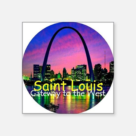"St Louis Square Sticker 3"" x 3"""