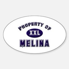 Property of melina Oval Decal