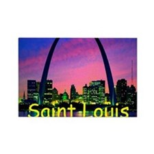 St Louis Rectangle Magnet