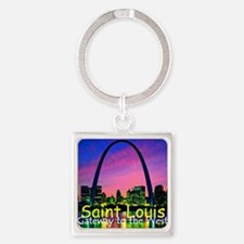 St Louis Square Keychain