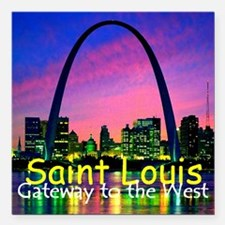 """St Louis Square Car Magnet 3"""" x 3"""""""