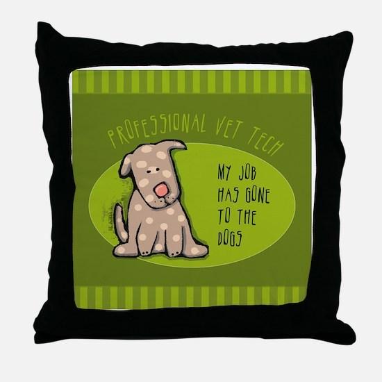 TILEvettech Throw Pillow