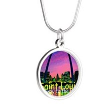 St Louis Silver Round Necklace