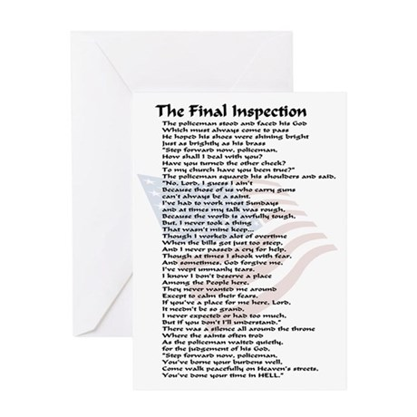 final inspection policeman copy Greeting Card