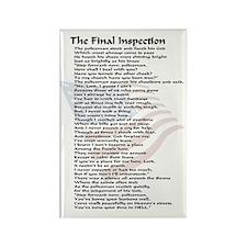 final inspection policeman copy Rectangle Magnet