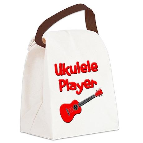 red ukulele Canvas Lunch Bag