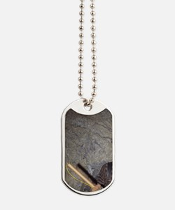 Wallace. Miner holding a stick of dynamit Dog Tags