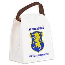 6TRH CAVALRY RGT WITH TEXT Canvas Lunch Bag