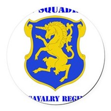 6TRH CAVALRY RGT WITH TEXT Round Car Magnet