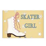 Ice skating girls Postcards