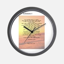 Scripture from the Bible, say Wall Clock