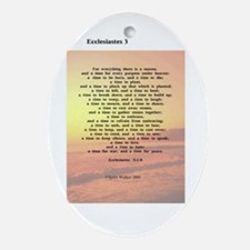 Scripture from the Bible, say Oval Ornament