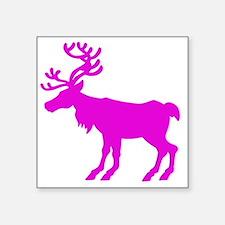 "reindeer pink Square Sticker 3"" x 3"""