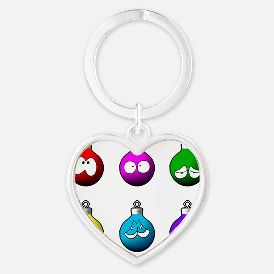 funny christmas globes Heart Keychain