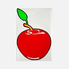 apple red Rectangle Magnet