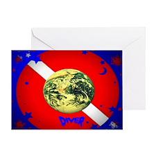 DIVE FLAG # 0055 Greeting Card