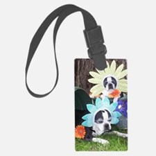 BT Flower note Luggage Tag