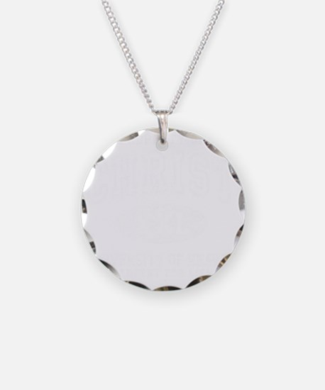 PropChrist White Necklace Circle Charm
