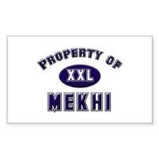 Property of mekhi Rectangle Decal