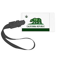 California Weed Flag Luggage Tag