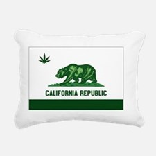 California Weed Flag Rectangular Canvas Pillow