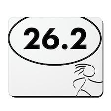 26 Oval w figure V2 Mousepad