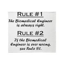 Rule Biomedical Engineer Throw Blanket
