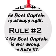 Rule Boat Captain Ornament