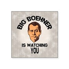 "big-boehner-BUT Square Sticker 3"" x 3"""
