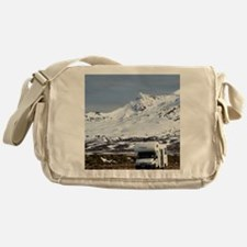 Campervan and Mt Ruapehu Messenger Bag