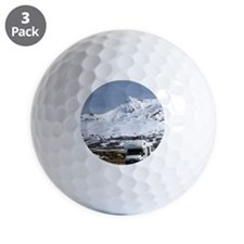 Campervan and Mt Ruapehu Golf Ball