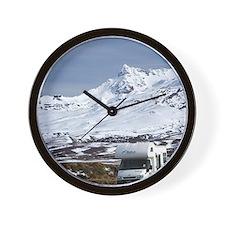Campervan and Mt Ruapehu Wall Clock