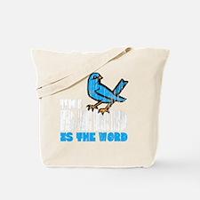 Word Bird blk Tote Bag