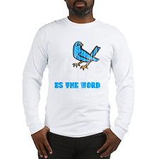 Word Bird blk Long Sleeve T-Shirt