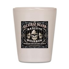 ALCATRAZ ISLAND BAD GUYS BOURBON Shot Glass