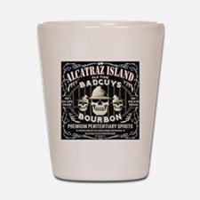 ALCATRAZ ISLAND BAD GUYS BOURBON Shot Glass