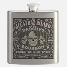 ALCATRAZ ISLAND BAD GUYS BOURBON Flask
