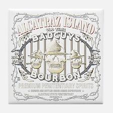 ALCATRAZ ISLAND BADGUYS BOURBON Tile Coaster