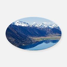Lake Ohau and Neumann Range (right Oval Car Magnet