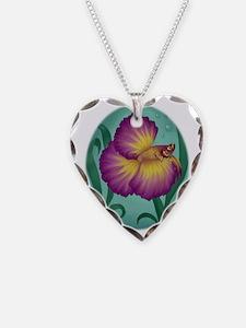 art-purpleflwerbetta2 Necklace