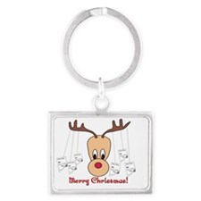 Reindeer Pharmacy Merry Christm Landscape Keychain