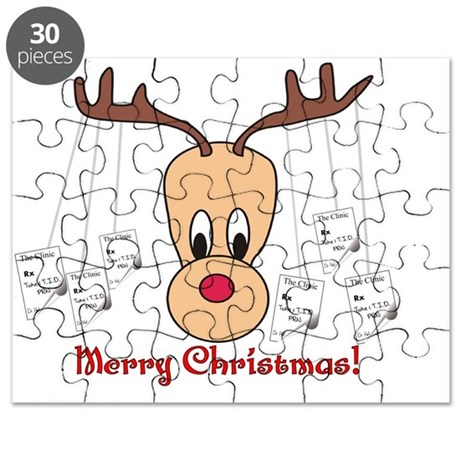 Reindeer Pharmacy Merry Christmas Puzzle