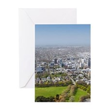 New Zealand - aerial Christchurch, S Greeting Card