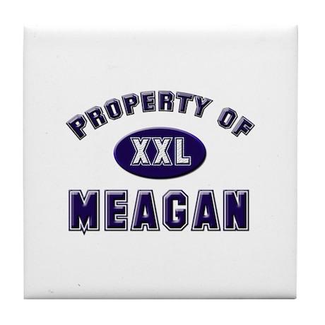 Property of meagan Tile Coaster