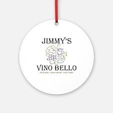 Jimmy's Vino Ornament (Round)