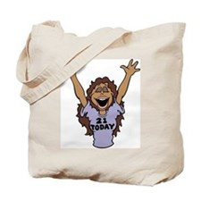 21 Year Old Brunette Birthday Tote Bag