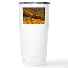 Luchun. Farmers plant rice in f Travel Mug