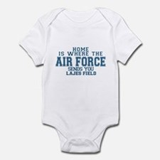 Cool Air force girlfriend Infant Bodysuit