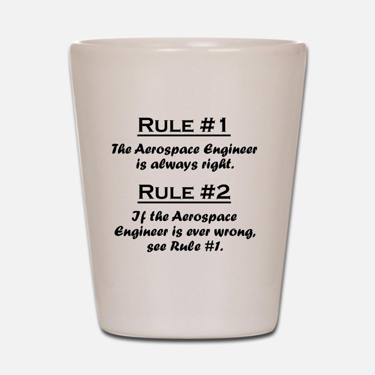 Rule Aerospace Engineer Shot Glass