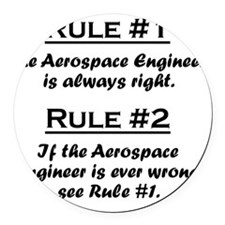 Rule Aerospace Engineer Round Car Magnet